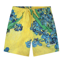 Pantalons et Shorts-Daily Paper x Van Gogh - Short Van Hali Yellow Flowers-