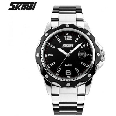 SKMEI 0992CS Black with Stainless Steel Strap Watch for Men - Watchportal Philippines
