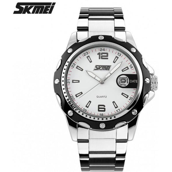 SKMEI 0992CS Silver Stainless Steel Strap Watch for Men - Watchportal Philippines
