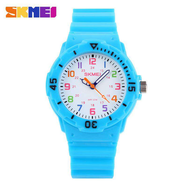 SKMEI 1043C Baby Blue Unisex Kids Watch