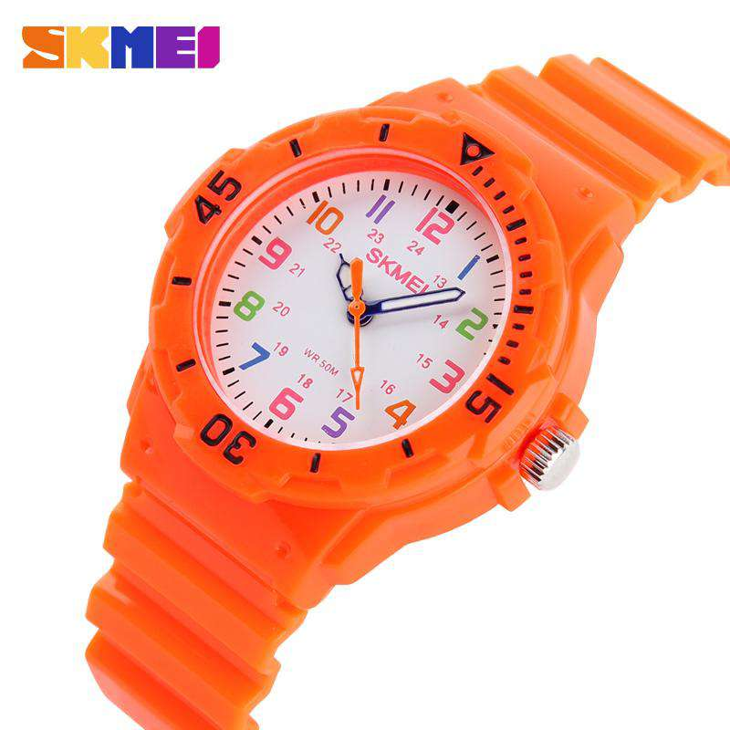 SKMEI 1043C Orange Unisex Kids Watch