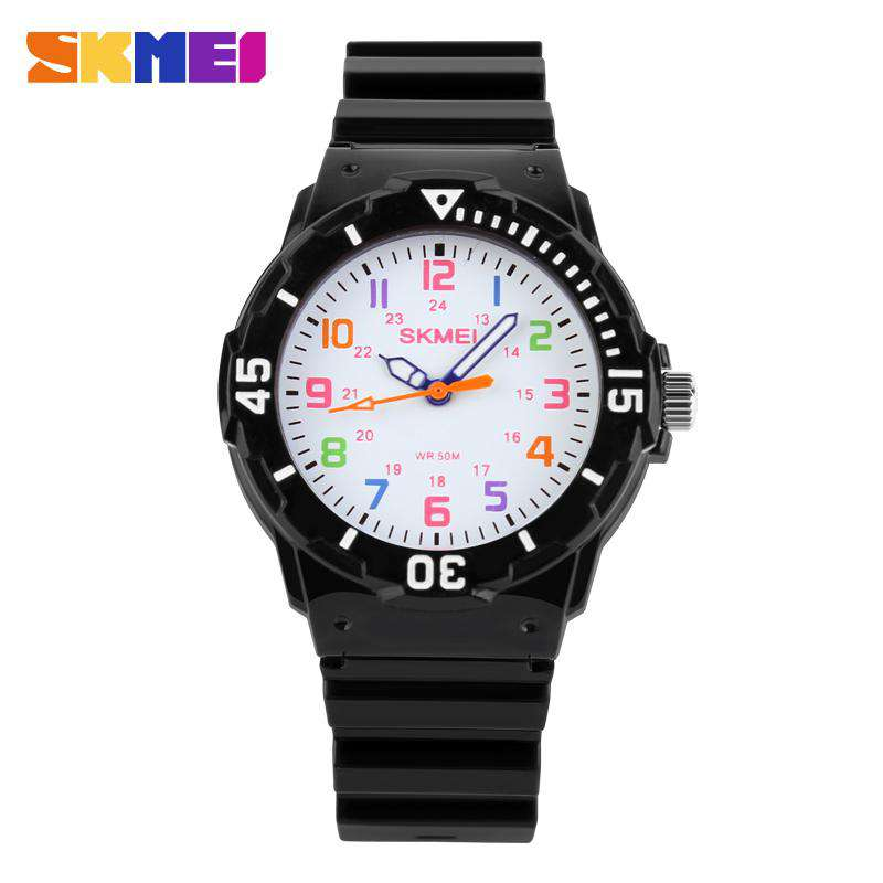 SKMEI 1043C Black Unisex Kids Watch