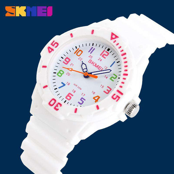 SKMEI 1043C White Unisex Kids Watch
