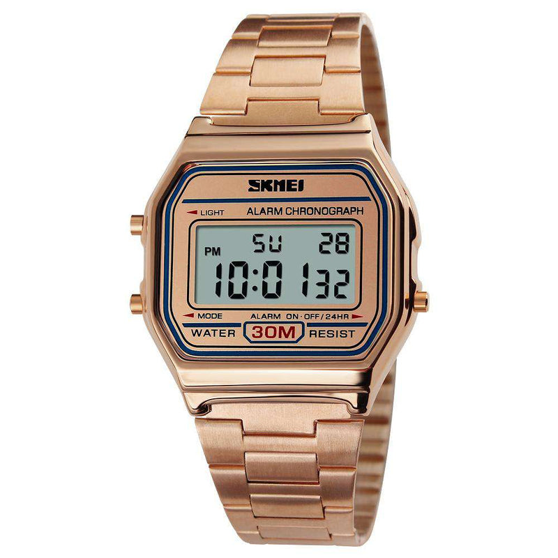 SKMEI 1123 Rose Gold Unisex Stainless Steel Watch