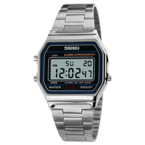 SKMEI 1123 Silver Unisex Stainless Steel Watch