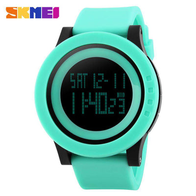 SKMEI DG1142 Green Silicon Strap Watch for Men and Women