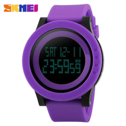 SKMEI DG1142 Purple Silicon Strap Watch for Men and Women