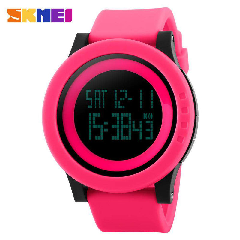 SKMEI DG1142 Pink Silicon Strap Watch for Women