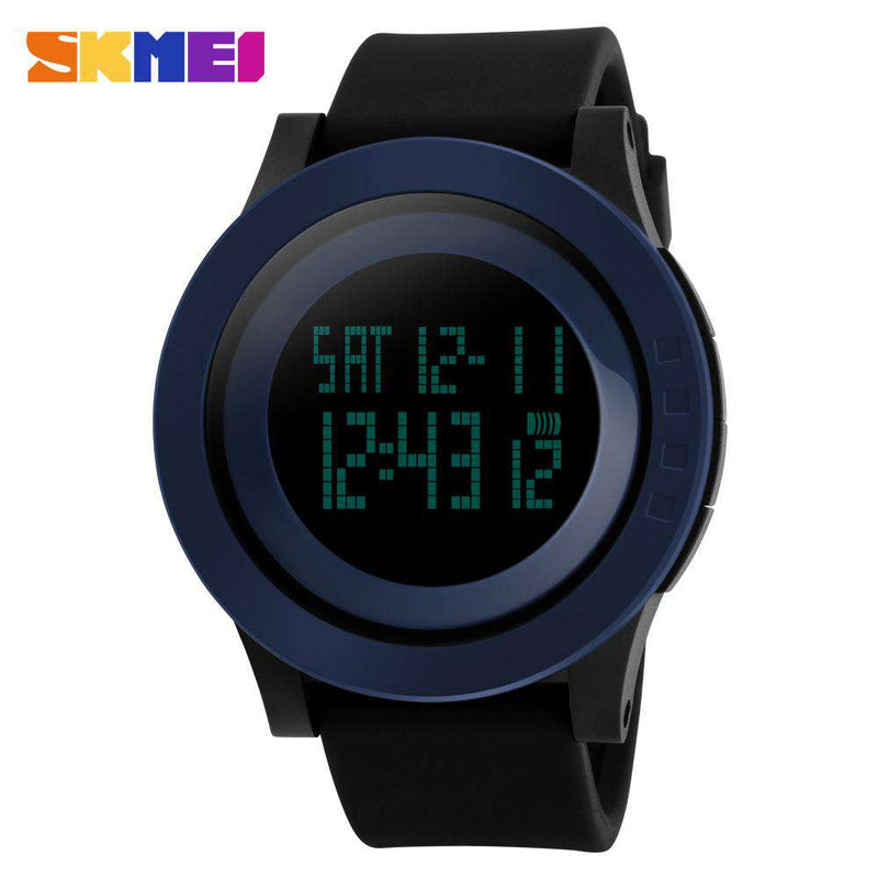 SKMEI DG1142 Blue/Black Silicon Strap Watch for Men
