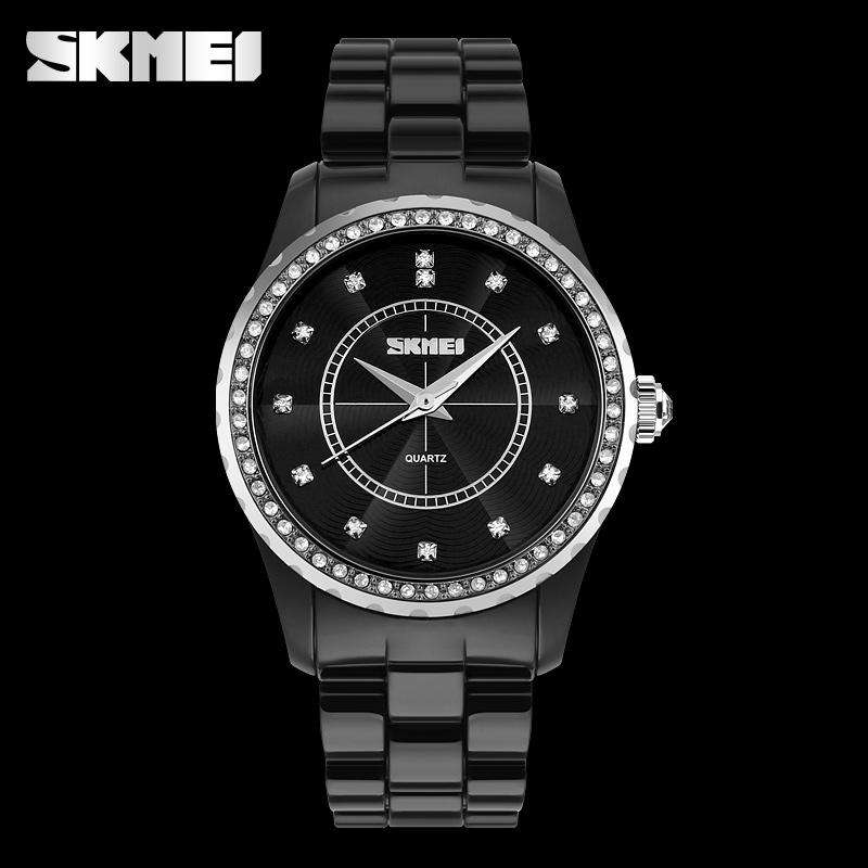 SKMEI 1159C Black Big Watch for Women