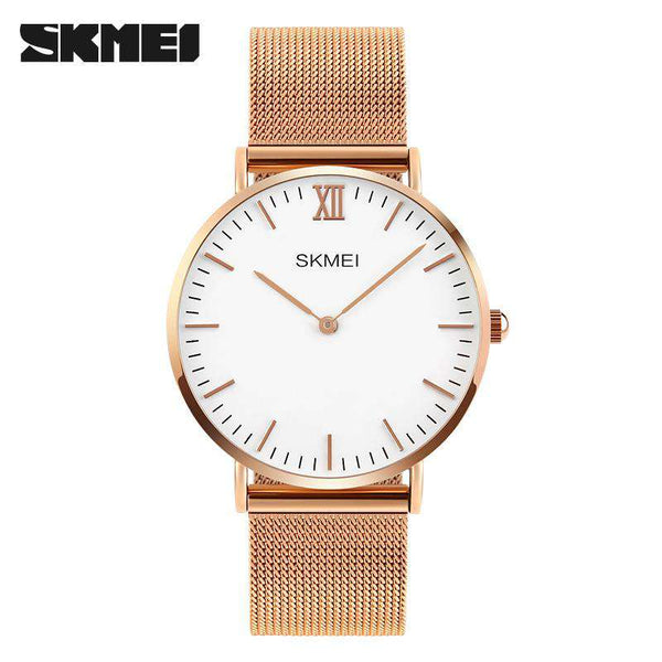 SKMEI 1181CS Rose Gold Unisex Stainless Steel Watch