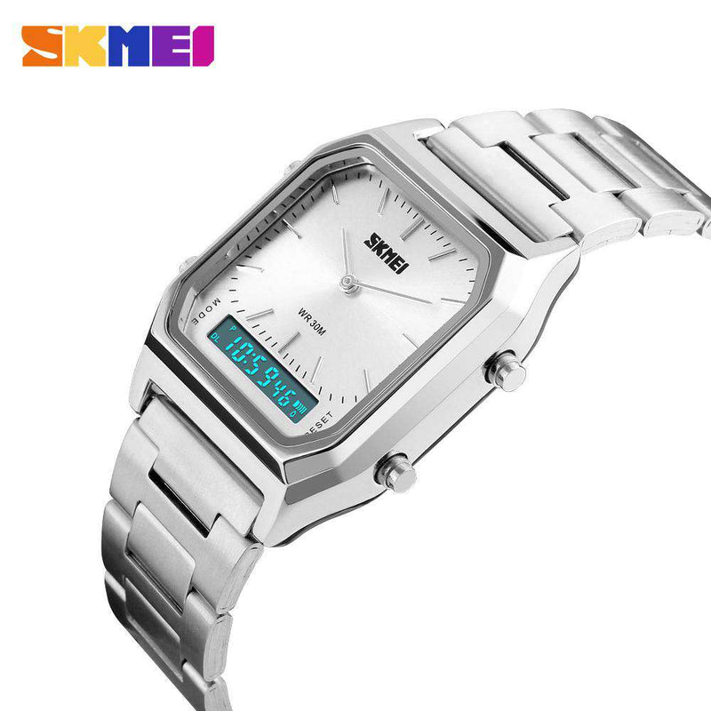 SKMEI 1220 Silver Stainless Steel Unisex Watch