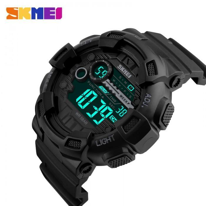 SKMEI 1243 Black Rubber Strap Watch for Men - Watchportal Philippines