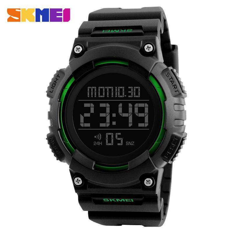 SKMEI DG1248 Green with Rubber Strap Unisex Watch
