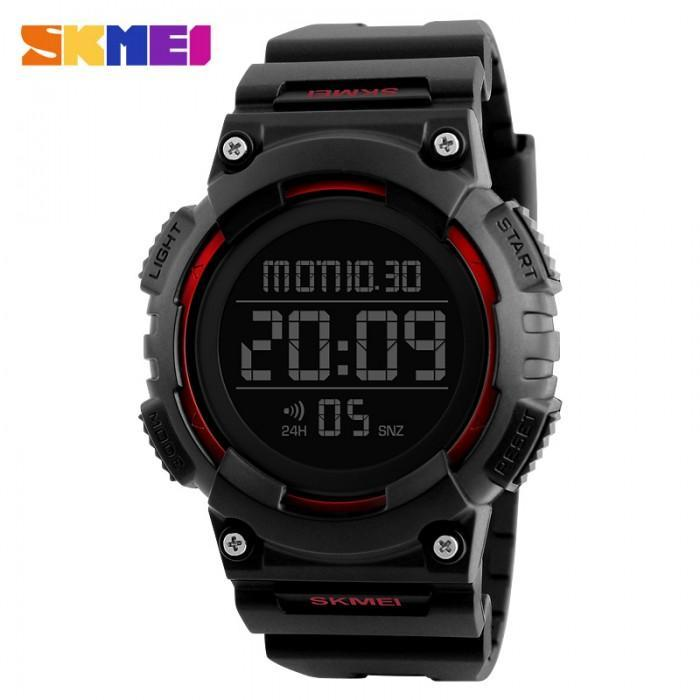 SKMEI 1248 Red with Rubber Strap Watch for Men - Watchportal Philippines