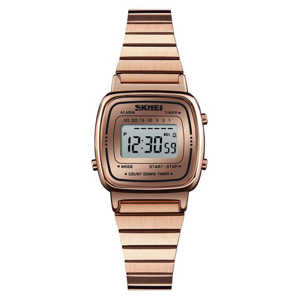 Skmei 1252 Rose Gold Stainless Steel Unisex Watch