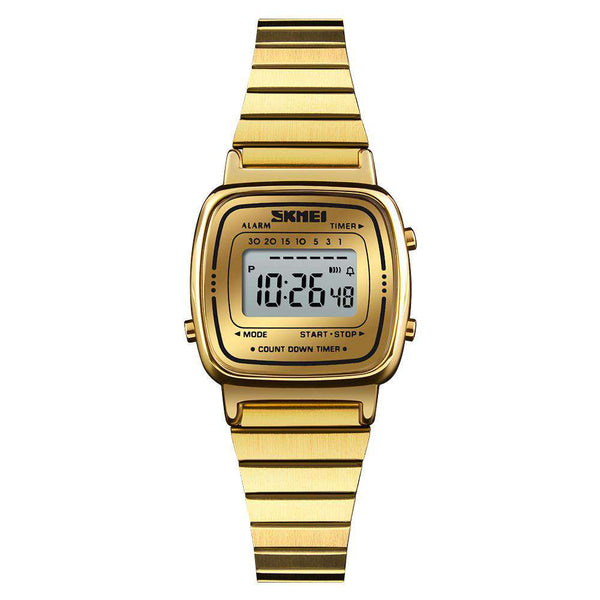 Skmei 1252 Gold Stainless Steel Unisex Watch