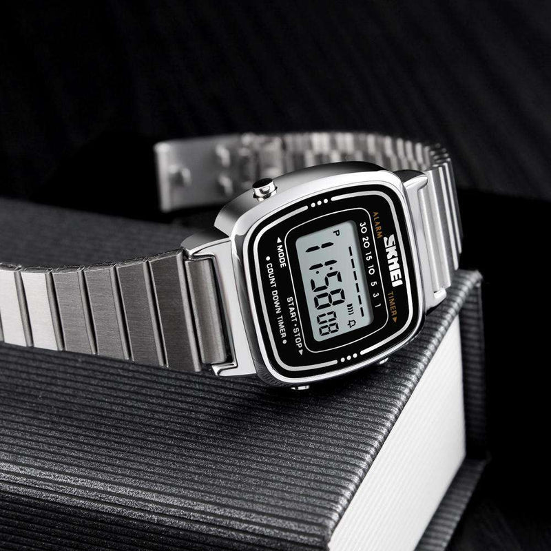 Skmei 1252 Silver Stainless Steel Unisex Watch