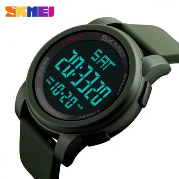 SKMEI 1257 Army Green Silicon Strap Watch for Men and Women - Watchportal Philippines