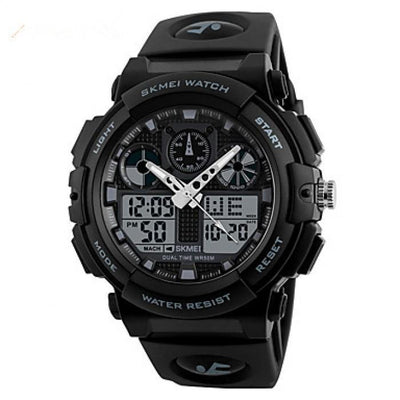 SKMEI 1270 Black with Rubber Strap Watch for Men - Watchportal Philippines