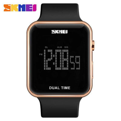SKMEI DG1271 Rose Gold with PU Strap Unisex Watch