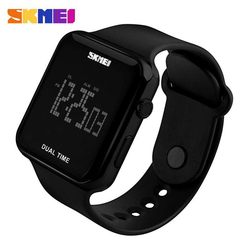SKMEI DG1271 Black with PU Strap Unisex Watch