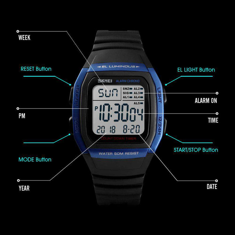 Skmei 1278-3 Blue Mens Watch
