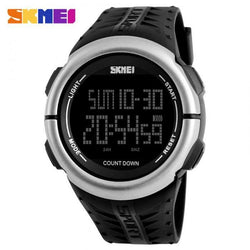 SKMEI 1286 Black Rubber Strap Watch for Men - Watchportal Philippines