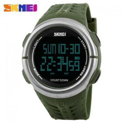 SKMEI 1286 Green Rubber Strap Watch for Men - Watchportal Philippines
