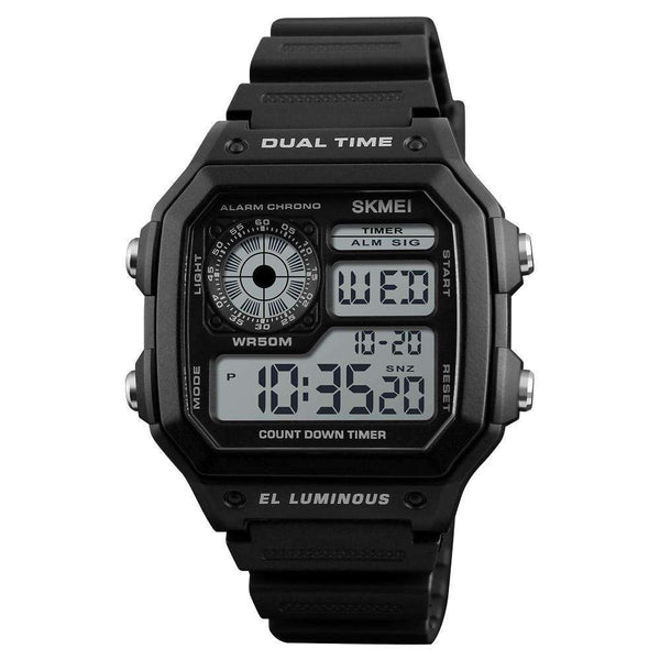 Skmei 1299 Black Digital Sports Unisex Watch