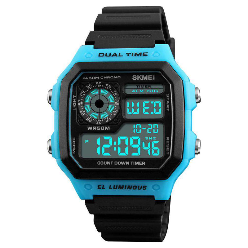 Skmei 1299 Blue Digital Sports Unisex Watch