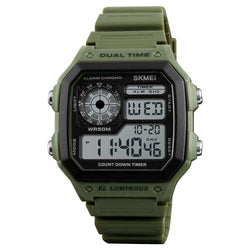 Skmei 1299 Green Digital Sports Unisex Watch