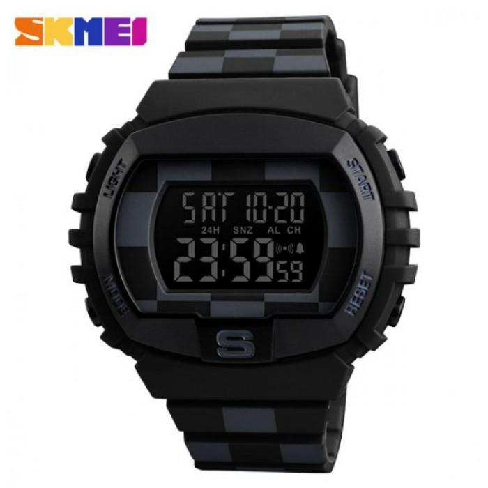 SKMEI 1304 Black Rubber Strap Watch for Men - Watchportal Philippines