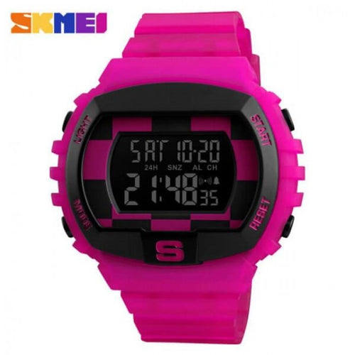 SKMEI 1304 Rose Pink Rubber Strap Watch for Men and Women - Watchportal Philippines