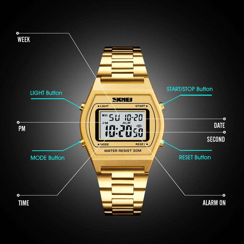 Skmei 1328-2 Gold Unisex Watch