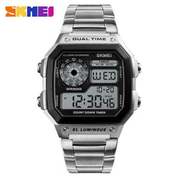SKMEI 1335 Silver Stainless Steel Watch for Men