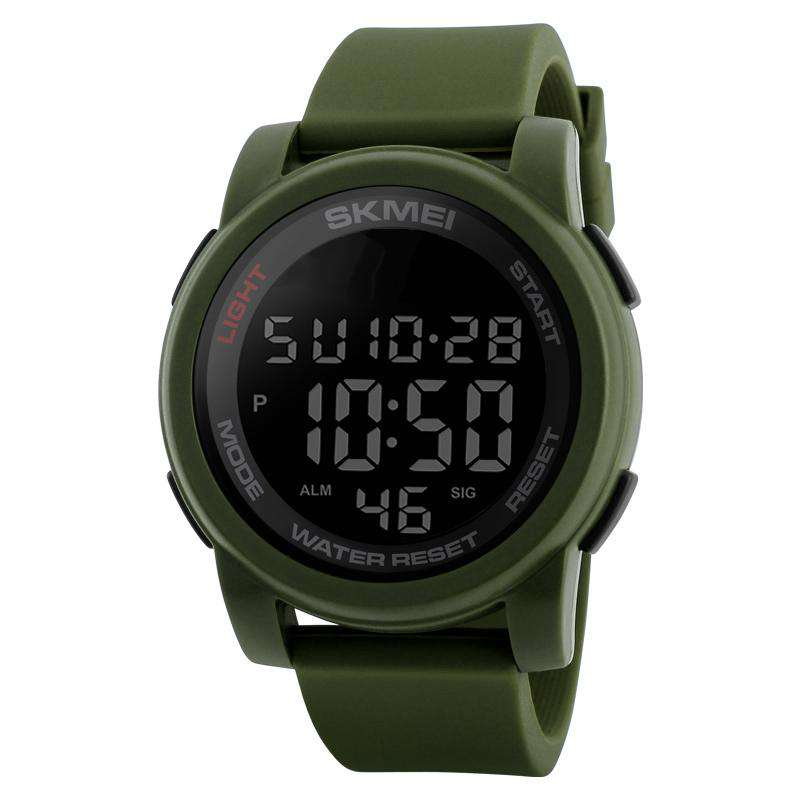 SKMEI DG1348 Green with PU Strap Watch For Men