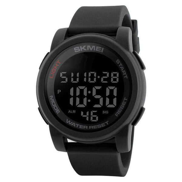 SKMEI DG1348 Black with PU Strap Watch For Men