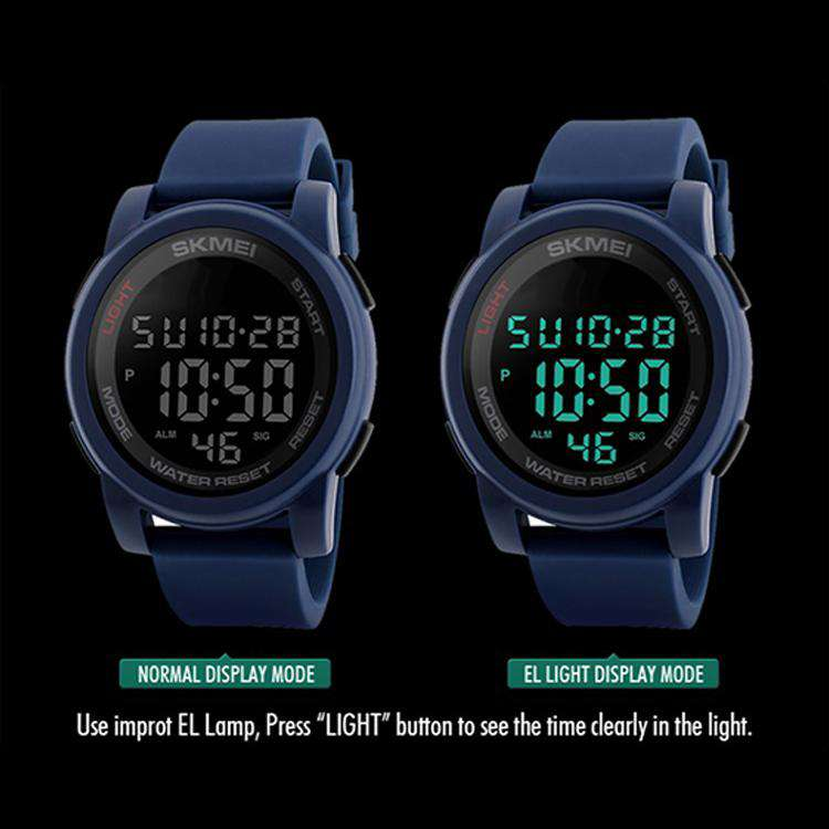 SKMEI DG1348 Blue with PU Strap Watch For Men