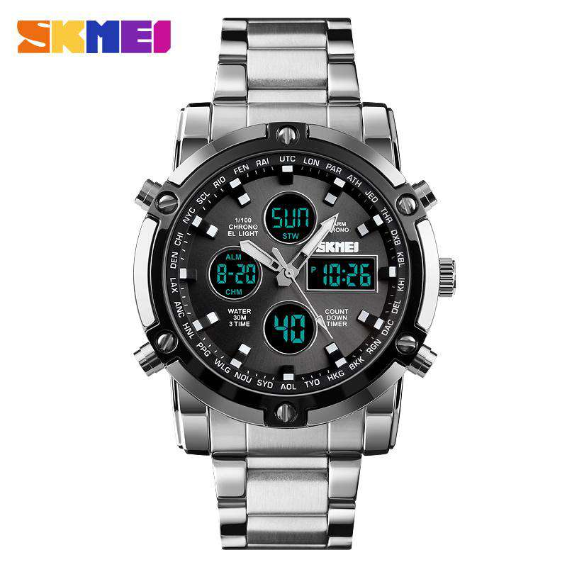 Skmei 1389-2 Silver/Black Mens Watch