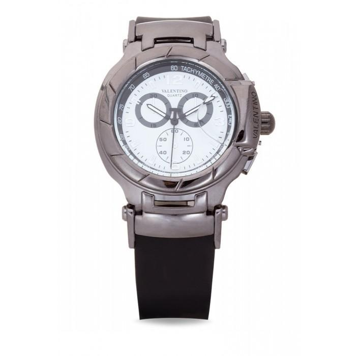 Valentino 20121910-BLK - WHITE DIAL TISSOT RUBBER STYLE RUBBER STRAP Watch For Men - Watchportal Philippines