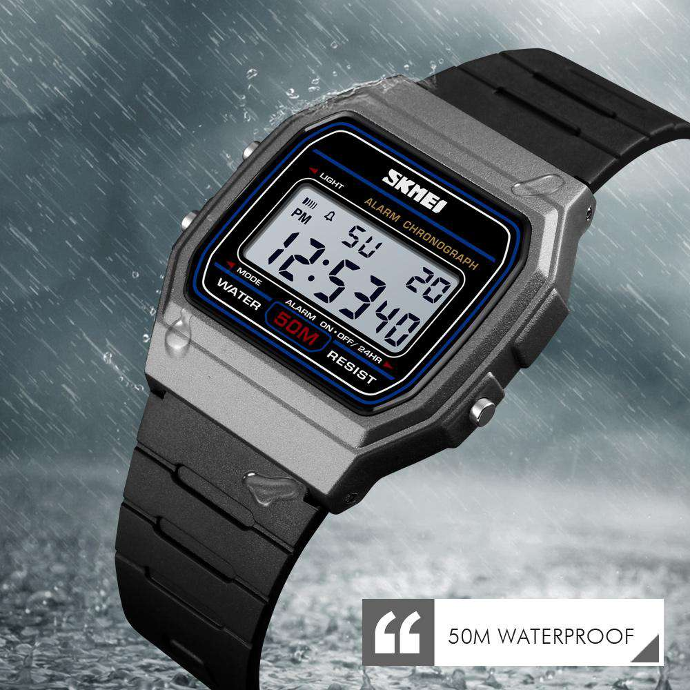 Skmei 1412 Titanium Digital Sports Unisex Watch