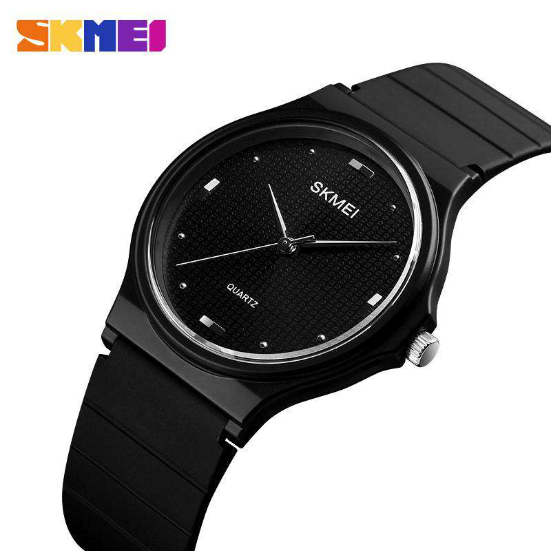 Skmei 1421 Black Dial Rubber Strap Unisex Watch