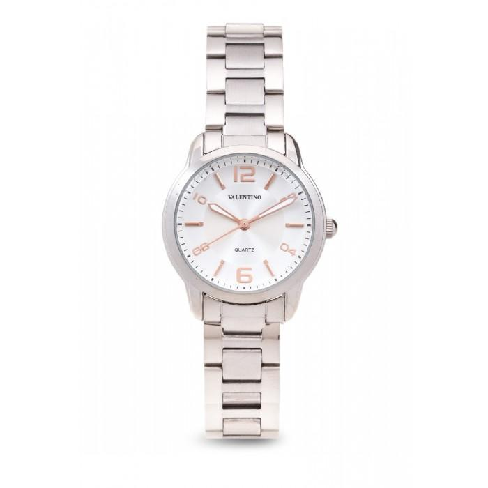 Valentino 20121912-WHITE DIAL RG INDEX STAINLESS BAND STRAP Watch For Women - Watchportal Philippines