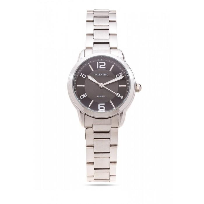 Valentino 20121912-BLACK DIAL STAINLESS BAND Strap Watch For Women - Watchportal Philippines