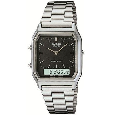 Casio Vintage AQ-230A-1D Silver Stainless Watch For Men and Women
