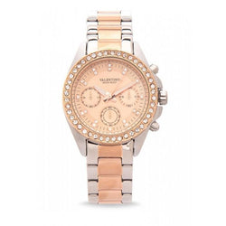 Valentino 20121662-TWO TONE - ROSE DIAL EXCALIBUR IP ROSE GOLD STAINLESS STEEL BAND STRAP Watch for Women