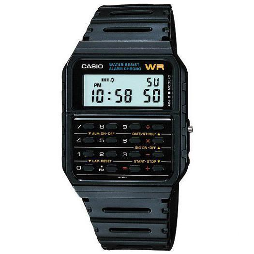 Casio CA-53W-1Z Black Calculator Watch for Men and Women - Watchportal Philippines