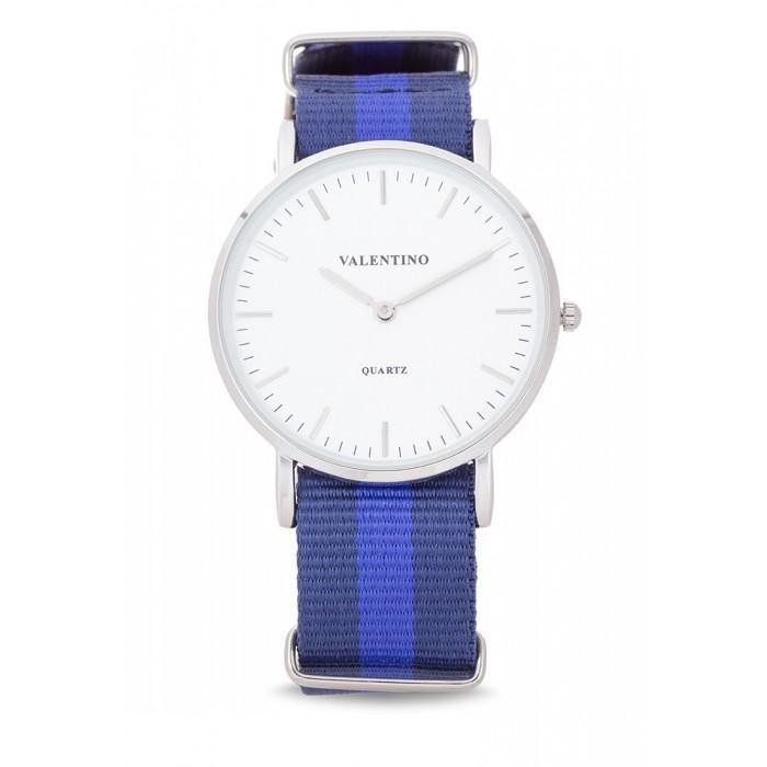 Valentino 20121903-Dblue Blue Nylon Strap Watch For Men