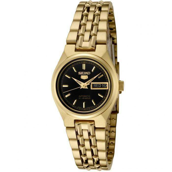 SEIKO SYMA06K1 Automatic Gold Plated Stainless Steel Watch for Women